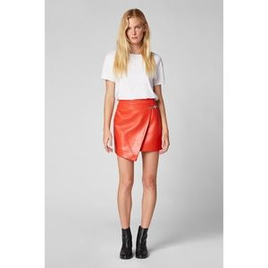 Blank NYC Faux Leather Wrap Skirt In Safe Word